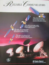 2/1992 PUB GENERAL ELECTRIC ASTRO SPACE COMMUNICATION SATELLITE 3 AXIS ESPACE AD