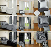 3 Pcs Duvet Cover Set Jacquard Quilted Bedding Set Matching Curtains & Cushions