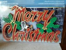 Vintage Lighted Merry Christmas Wall Sign Decor