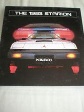Mitsubishi Starion brochure 1983 USA market