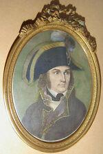 PORTRAIT MINIATURE du GENERAL JOUBERT chef de l'Armée d'Italie - EMPIRE