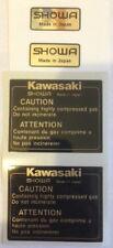 KAWASAKI Z1100R EDDIE LAWSON REPLICA SHOWA REAR SHOCK ABSORBER DECALS X 2