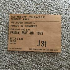 Focus ticket Rainbow Theatre London 04/05/73