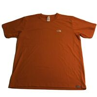 Mens THE NORTH FACE VaporWick Orange Hi Viz Gym Running T-shirt Sz XL / TG