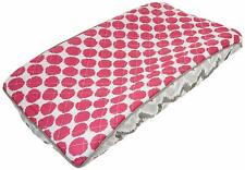 Bacati Ikat Zigzag Grey & Pink Dot Changing Pad Cover