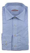 Camisas de vestir de hombre azul 100% algodón