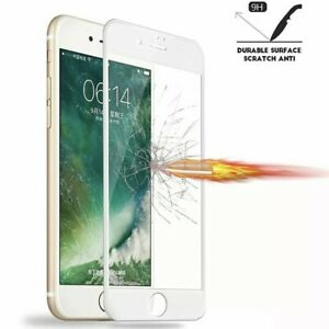 3-Pack Full Coverage Tempered Glass Screen Protector For iPhone 6 6s 7 8 Plus