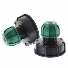2-teiliger Kunststoff-IBC-Tankdeckelanschluss S60x6 an geradem MDPE-Rohr 20 mm