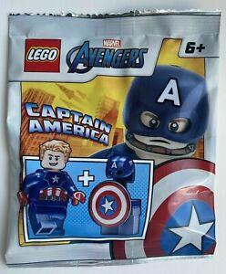 LEGO - Marvel Avengers - Captain America- Foil Pack - 242106 - New - sh741