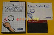 GREAT VOLLEYBALL Sega Master System Versione Italiana »»»»» COMPLETO
