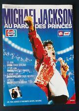 Publicité advert concert advertising MICHAEL JACKSON 1988 tournée française