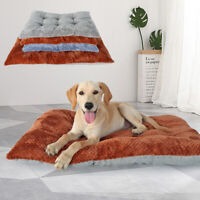 Indestructible Dog Bed Warm Cushion Pet Cat Sleep Mat Sofa for Kennel Crate Grey