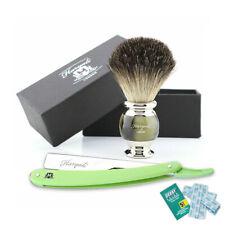 2 Pieces Professional Shaving Barber Salon Tools Beard Cleaner Brush & Razor New
