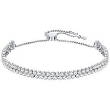Swarovski Subtle Rhodium Plated Bracelet - Clear Crystals