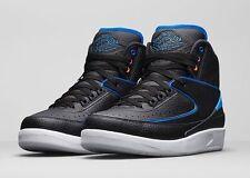 Nike Air Jordan 2 Retro Radio Raheem SZ 9 Black Orange Photo Blue 834274-014