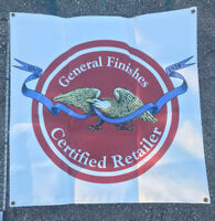 General Finishes Paint Certified Retailer in store booth BANNER paint seller DIY