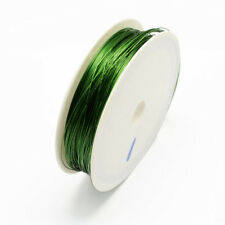 Iron Wire Dark Green 1Roll 0.3mm approx. 20m/roll Steel Wire Cable Jewlry Making