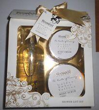 * Coffret cadeau BLOOMFIELD OPULENT * Golden Ambre et safran* douche *100% NEUF