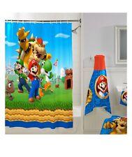 "On Sale Nintendo Franco Super Mario Fabric Shower Curtain 72"" x 72"" Brand New"