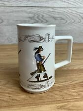 More details for vintage holkham pottery musketeers cavaliers tankard
