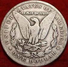 >>1900-s  SCARCE MORGAN SILVER DOLLAR COIN, Very Fine San Francisco Mint COIN