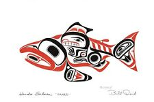 "Haida Salmon ""SKAAGI"" Bill Reid Art Card Northwest Coast Native"