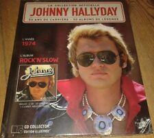 NEUF SCELLE JOHNNY HALLYDAY LIVRE ET CD ROCK N SLOW LA COLLECTION OFFICIELLE