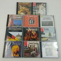 Classical Music Vivaldi Bach Beethoven Gershwin Band Instrumental Lot of 11 CD's