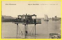 cpa SAINT MALO (Ille et Vilaine) Le PONT ROULANT à Marée Haute Overhead Crane