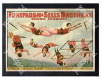 Historic Forepaugh & Sells Brothers Circus Advertising Postcard