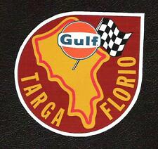 Targa Florio Race Track Outline Sticker, Vintage Sports Car Racing