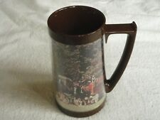 """Clydesdale Horses Budweiser Beer plastic Thermo-Serv Drink Mug Cup 6.5"""" Vintage"""