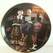 "Norman Rockwell ""Evening's Ease"" Collector Plate"
