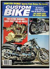 CUSTOM BIKE APRIL 1981  NORCAL DIGGERS 70's BAY AREA CUSTOM STREET CHOPPERS
