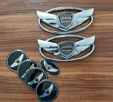 FOR Hyundai Genesis Coupe 7pcs/Set 3D Silver Wing Badge Emblem Sticker
