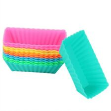6pcs Rectangle Silicone Cake Muffin Cupcake Liner Chocolate Bake Cup Mold A33