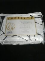 Superior 100% Cotton Percale Embroidered 3-Piece Duvet Cover Set, King/Cal King