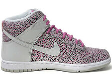 NIKE WOMEN'S DUNK HI SKINNY PRINT SHOES SIZE 5 grey red white 543242 007