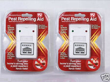 2 Riddex Plus Pest Repeller As Seen on TV Aid for Rodents Roaches Ants US Seller