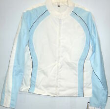NexGen Textile Lightweight Motorcycle Jacket White/Light Blue Womens 2XLarge