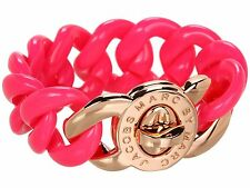 Rose Gold MARC JACOBS Knockout Pink BLACKLIGHT REACTIVE! CANDY Turnlock Bracelet