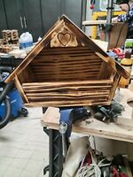 Handmade Mourning Dove House.  Thick Wood & Sealed for Durability.  Open Design.