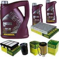 Motor Oil 7L Mannol Diesel Tdi 5W-30 + Mann Filter Kia Cee'D Sw Ed 2.0 Crdi