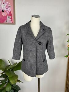 Revival Wool Blend Woven Jacket With Pockets Size 8/10 S