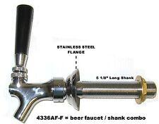 """Draft Beer Faucet and Shank 5 1/8"""" Shank  - Kegerator Tap Set beer part 4336af-c"""