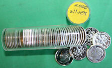2000 S Proof Silver Dimes 50 Coins Roosevelt 10c Roll 90% Silver Ten Cent Roll
