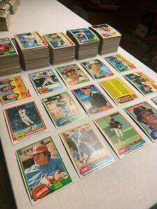 1981 Topps Baseball Cards Near Complete Set 692 All Different