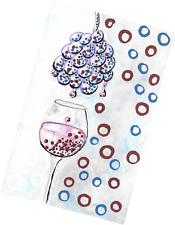 RED WINE & PURPLE GRAPES ART Pinot Noir Malbec Nebbiolo Sangiovese Syrah Shiraz
