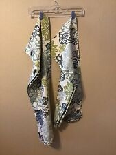 2 Piece Window Curtain Room Valance Floral Flowers