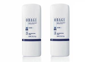 Obagi Nu Derm Clear FX Skin Brightening Cream 2 oz - 2 PACK